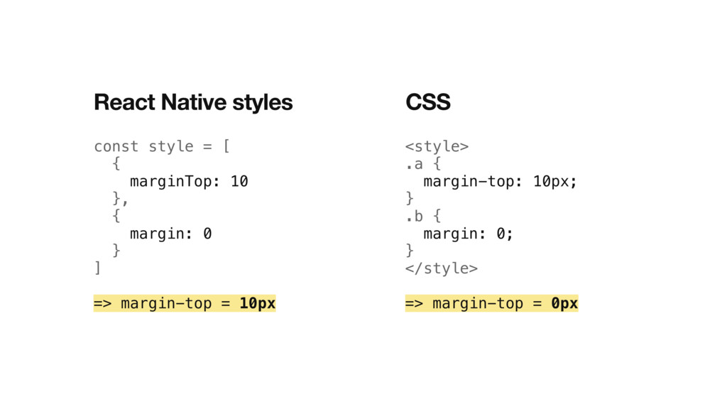 const style = [ { marginTop: 10 }, { margin: 0 ...