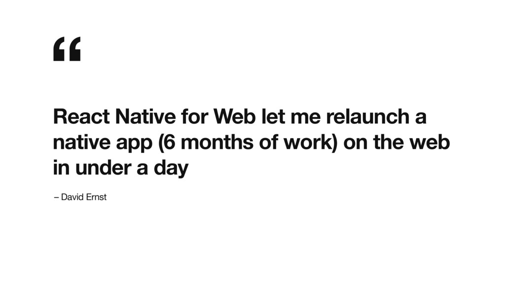 React Native for Web let me relaunch a native a...