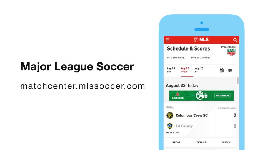 Major League Soccer matchcenter.mlssoccer.com v...