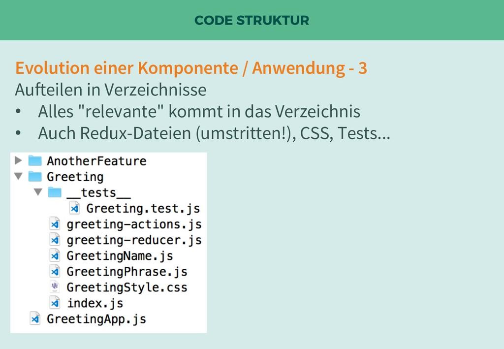 CODE STRUKTUR Evolution einer Komponente / Anwe...