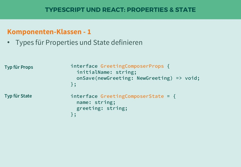 TYPESCRIPT UND REACT: PROPERTIES & STATE interf...