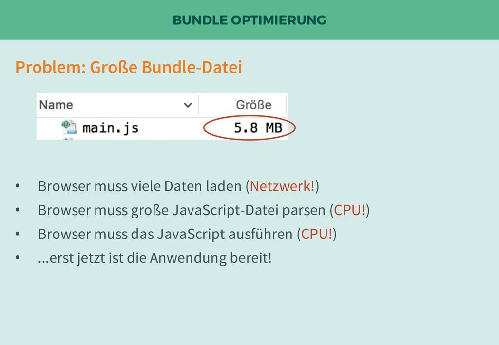 BUNDLE OPTIMIERUNG Problem: Große Bundle-Datei ...