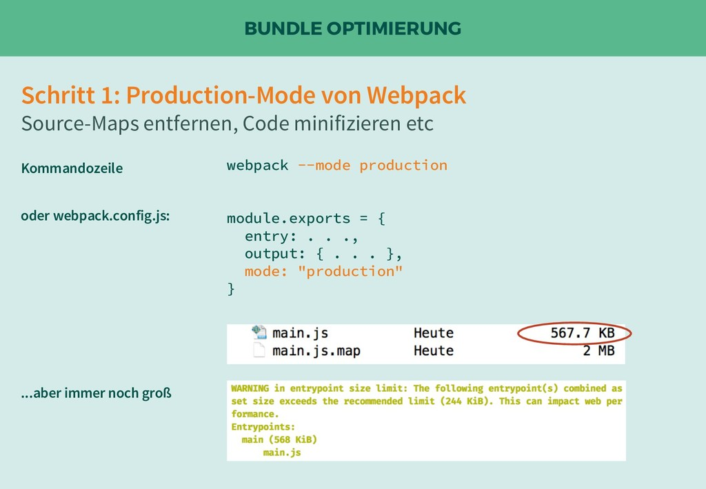 BUNDLE OPTIMIERUNG Schritt 1: Production-Mode v...