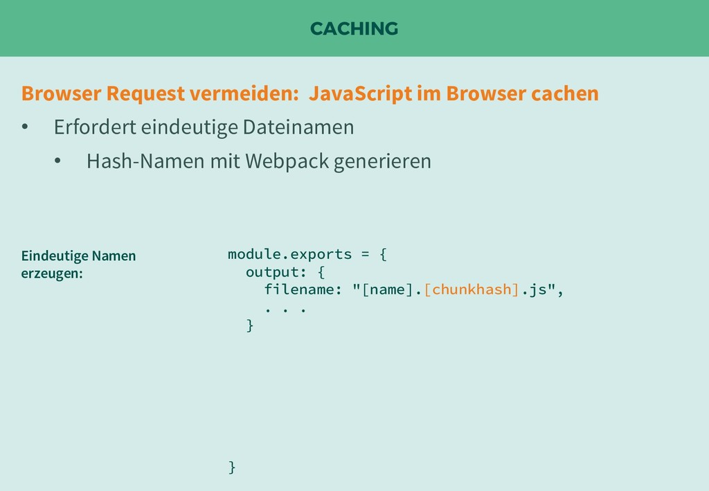 CACHING Browser Request vermeiden: JavaScript i...