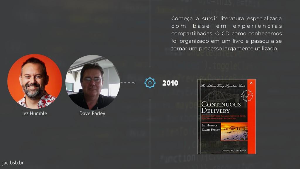 jac.bsb.br 2010 Começa a surgir literatura espe...