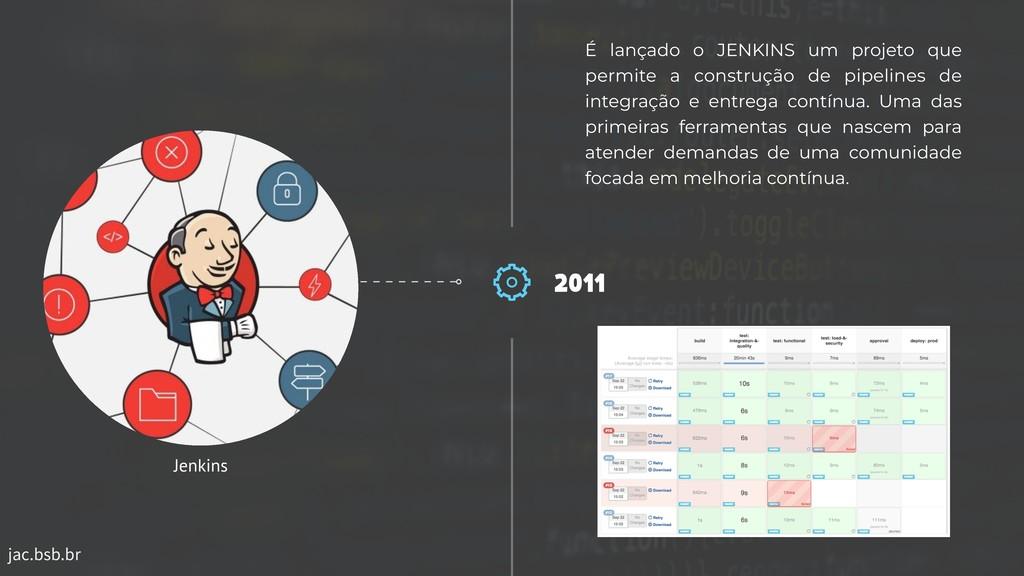 jac.bsb.br 2011 É lançado o JENKINS um projeto ...