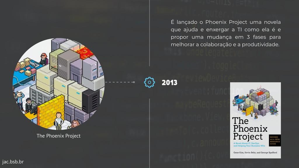 jac.bsb.br 2013 É lançado o Phoenix Project uma...