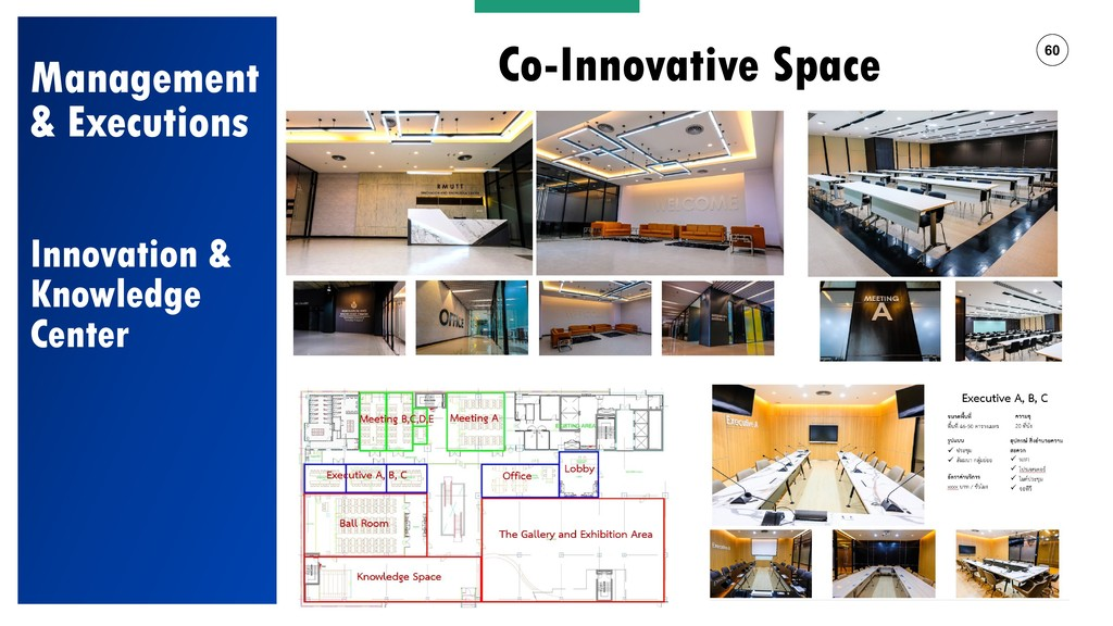 60 Co-Innovative Space? Management & Executions...