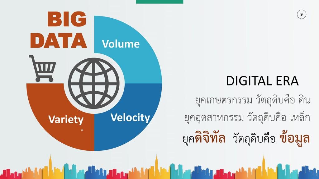 9 BIG DATA Volume Velocity . Variety ยุคเกษตรกร...