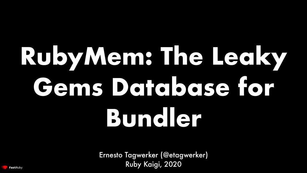 RubyMem: The Leaky Gems Database for Bundler Er...