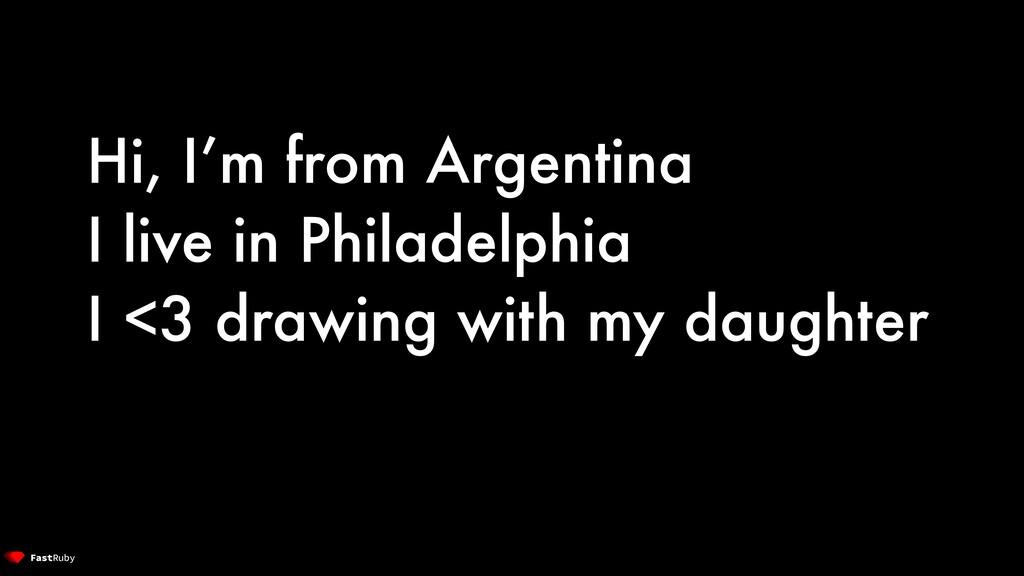Hi, I'm from Argentina I live in Philadelphia I...