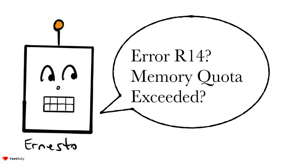Error R14? Memory Quota Exceeded?