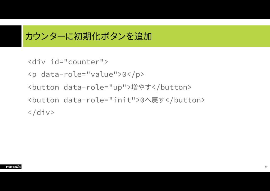 カウンターに初期化ボタンを追加 EJWJEDPVOUFS QEBUBSPM...