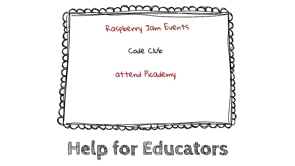 Help for Educators Raspberry Jam Events Code Cl...
