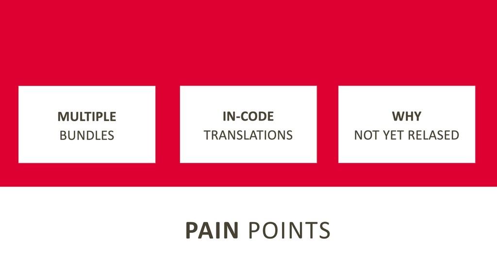 PAIN POINTS