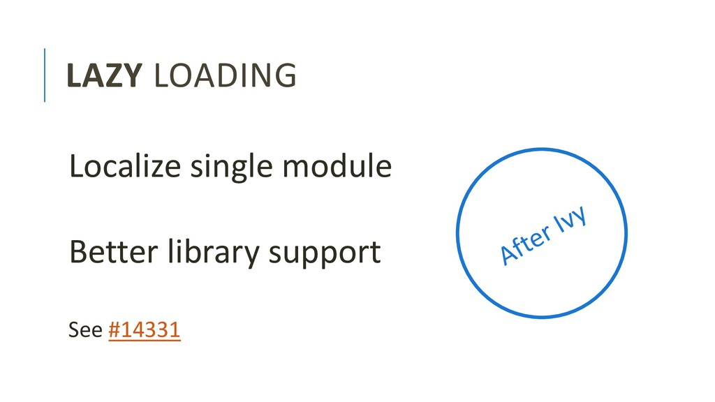LAZY LOADING Localize single module Better libr...
