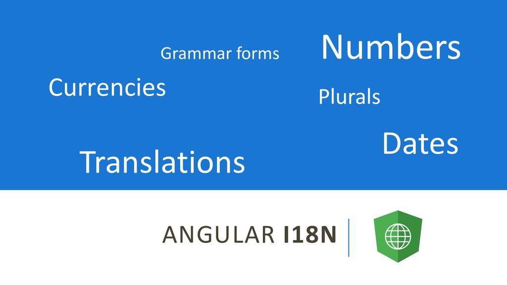 ANGULAR I18N Dates Currencies Numbers Plurals T...