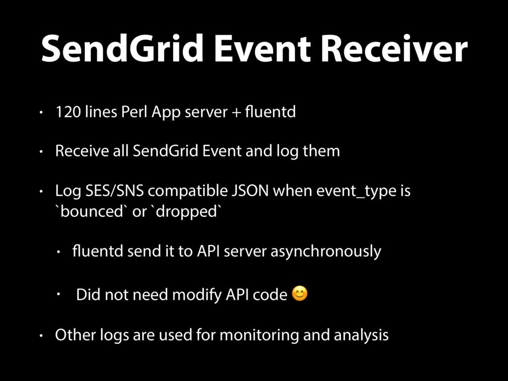 SendGrid Event Receiver • 120 lines Perl App se...