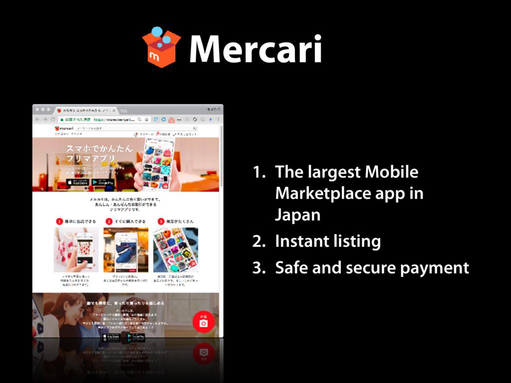 Mercari 1. The largest Mobile Marketplace app i...