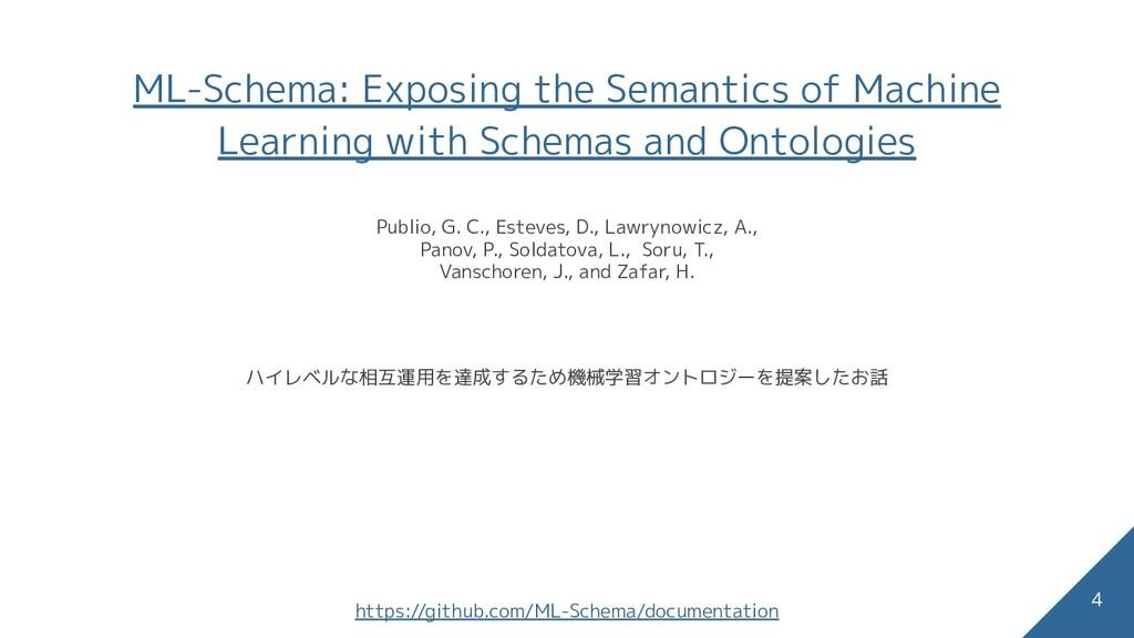 ML-Schema: Exposing the Semantics of Machine Le...