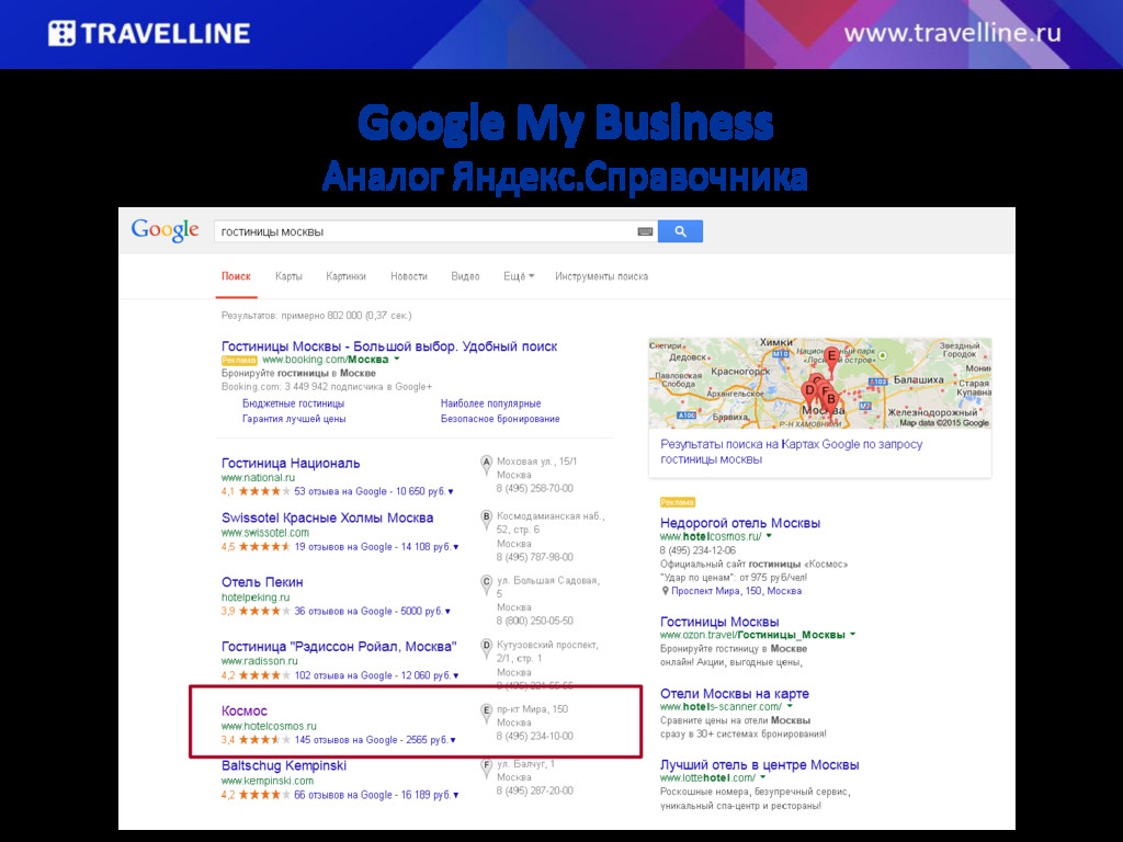 Google My Business Аналог Яндекс.Справочника