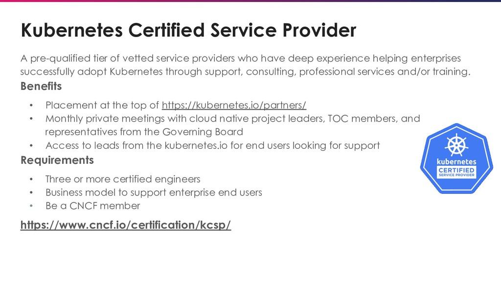 Kubernetes Certified Service Provider A pre-qua...