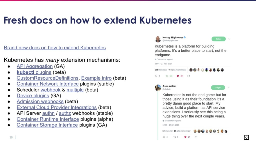 28 Fresh docs on how to extend Kubernetes Brand...