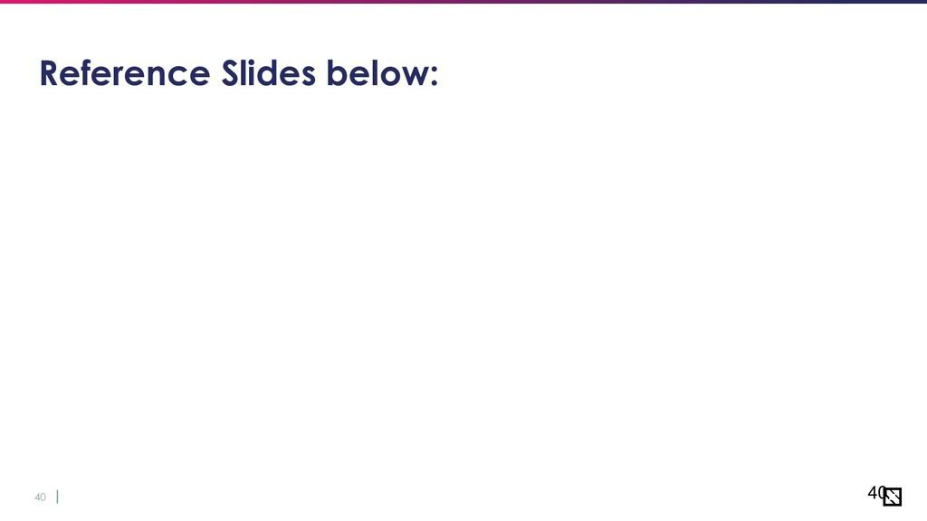 40 Reference Slides below: 40
