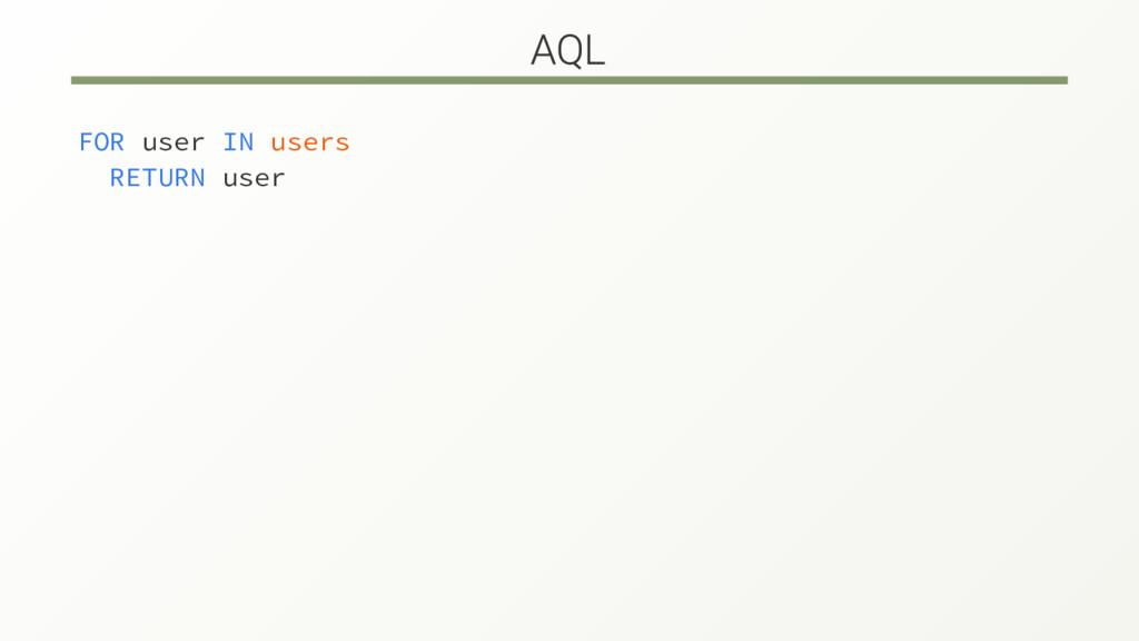 FOR user IN users RETURN user