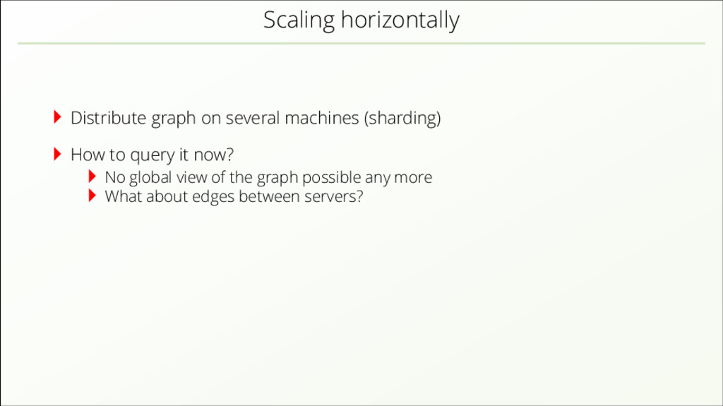 Scaling horizontally Distribute graph on severa...
