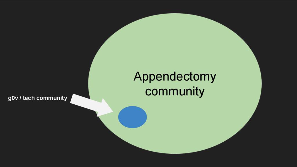 Appendectomy community g0v / tech community