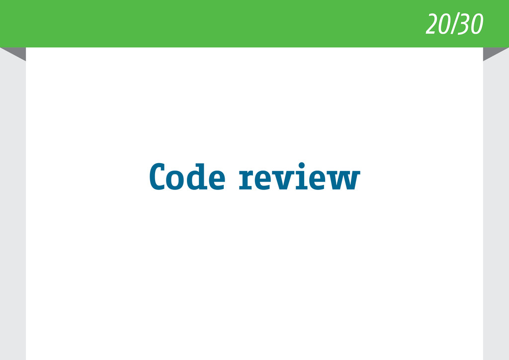 20/30 Code review