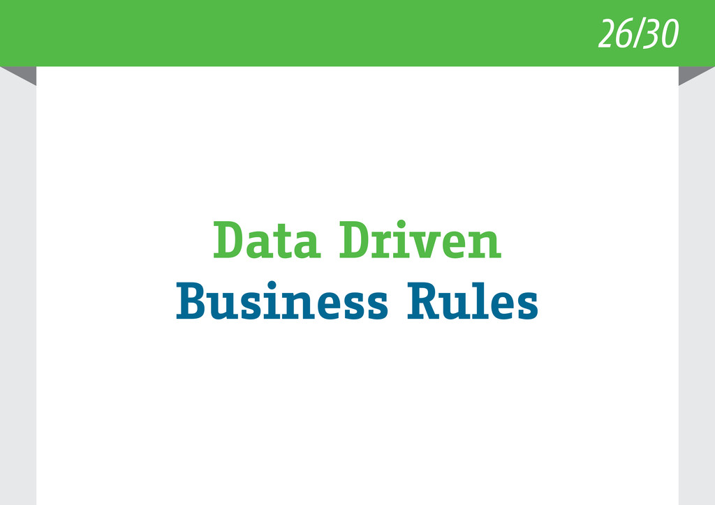 26/30 Data Driven Business Rules