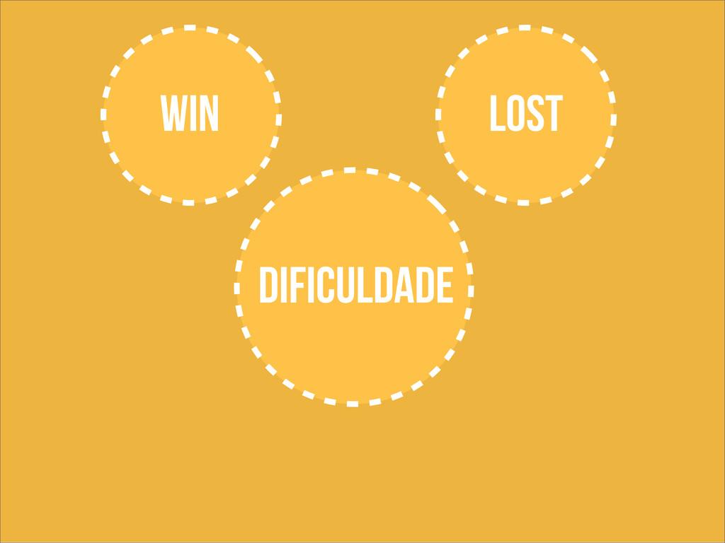 WIN LOST dificuldade