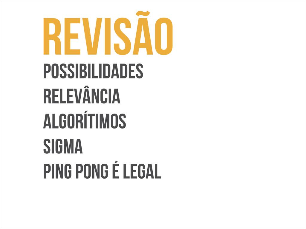 Revisão POssibilidades Relevância ALgorítimos S...