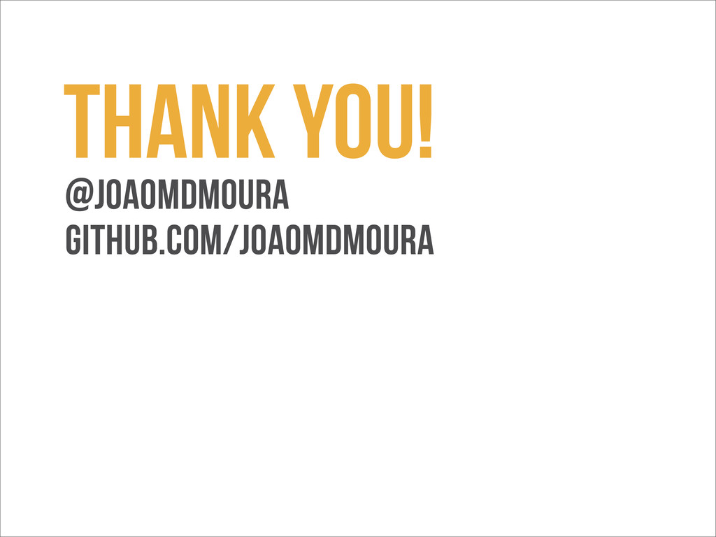 Thank you! @joaomdmoura github.com/joaomdmoura