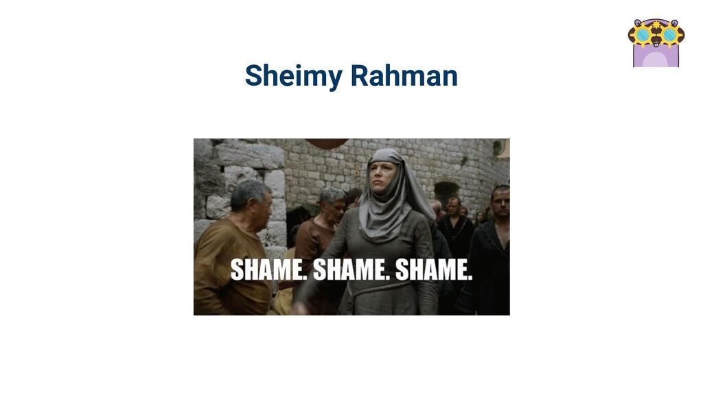 Sheimy Rahman