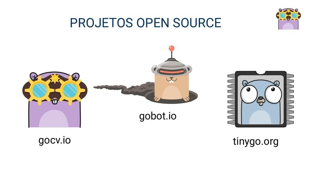 gocv.io gobot.io tinygo.org PROJETOS OPEN SOURCE