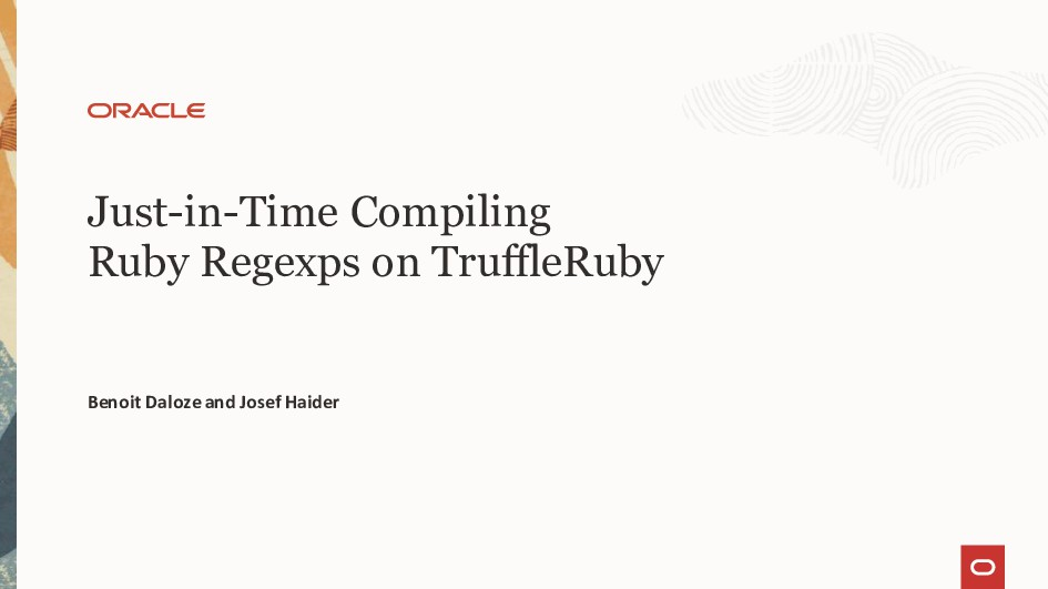Just-in-Time Compiling Ruby Regexps on TruffleR...