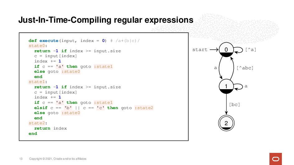 Just-In-Time-Compiling regular expressions def ...