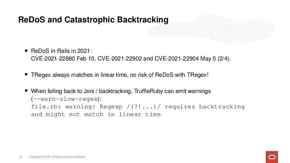 ReDoS and Catastrophic Backtracking • ReDoS in ...