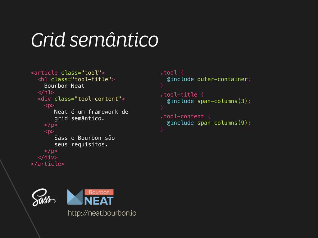 "Grid semântico <article class=""tool""> <h1 class..."