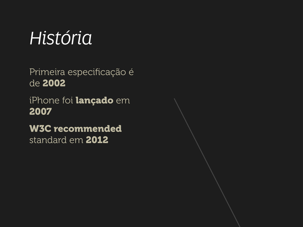 História Primeira especificação é de 2002 iPhone...