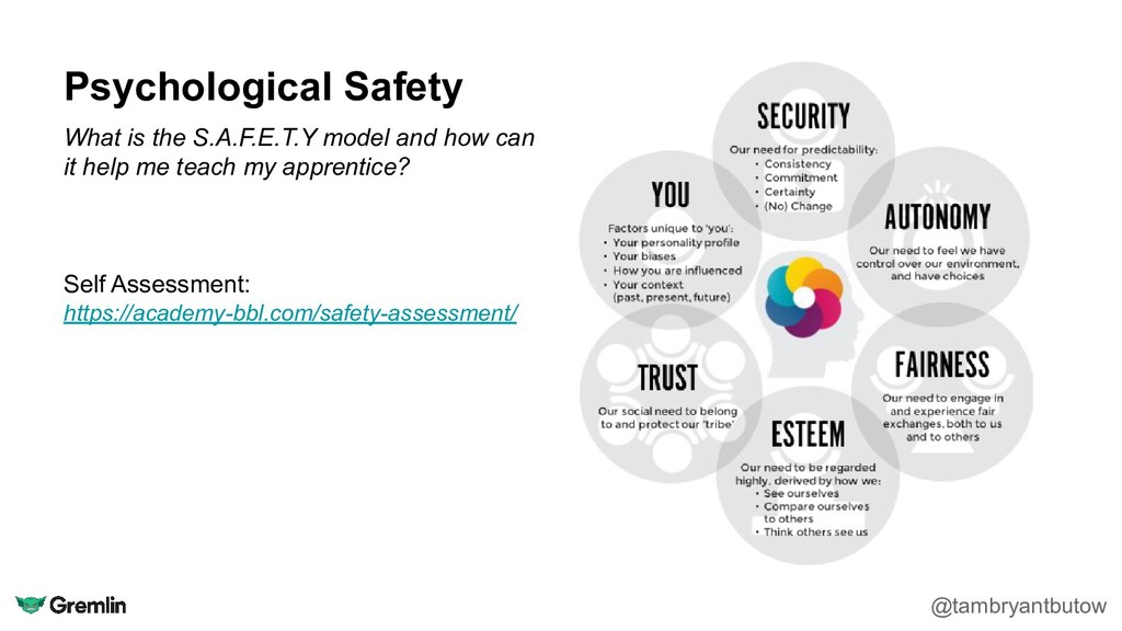 Psychological Safety @tambryantbutow What is th...