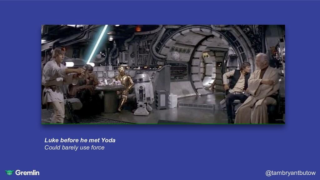 @tambryantbutow Luke before he met Yoda Could b...