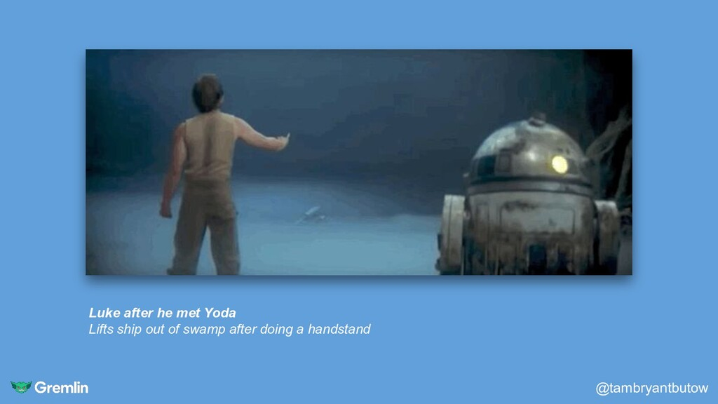 Luke after he met Yoda Lifts ship out of swamp ...
