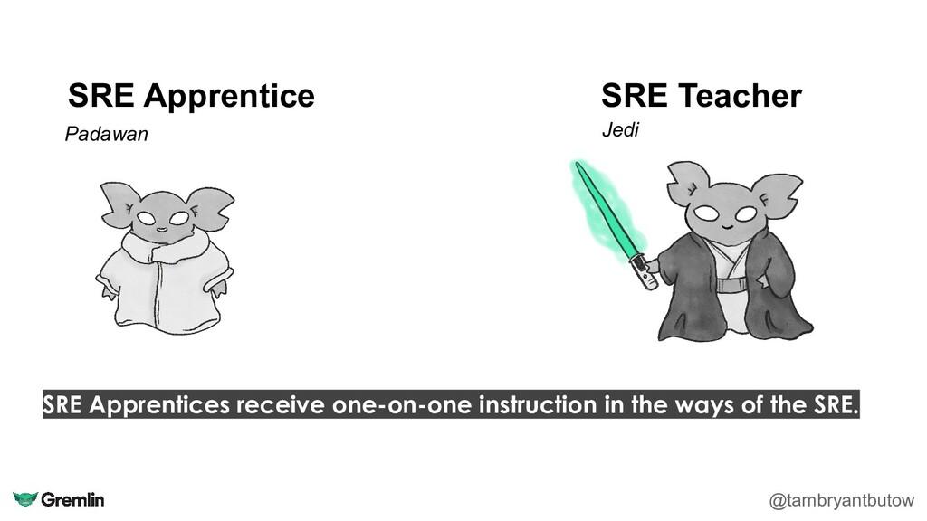 SRE Apprentice @tambryantbutow SRE Teacher Pada...