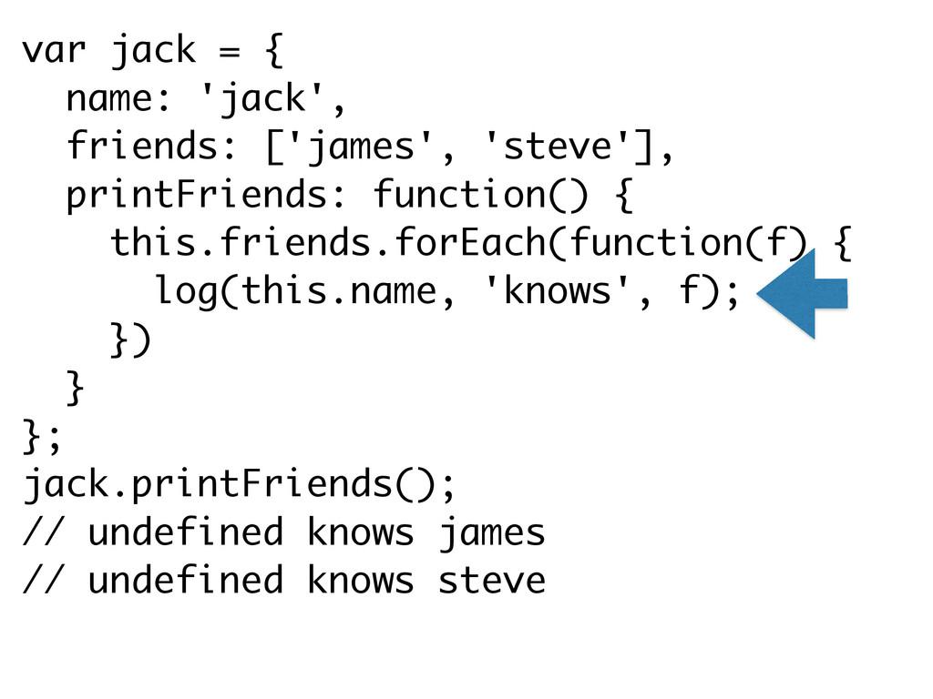 var jack = { name: 'jack', friends: ['james', '...