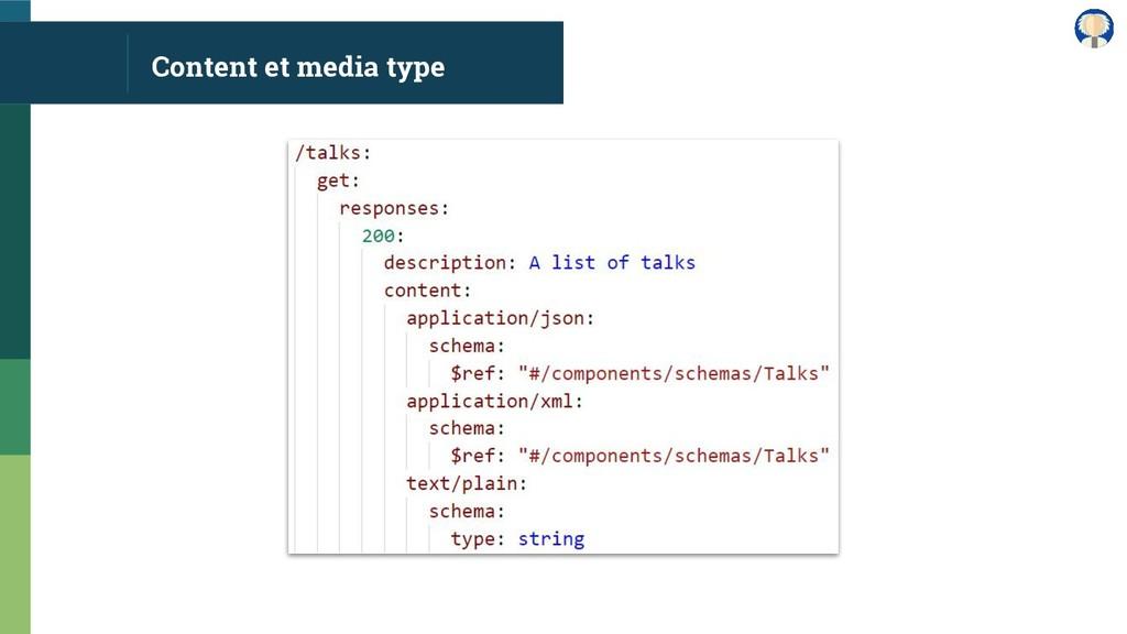 Content et media type