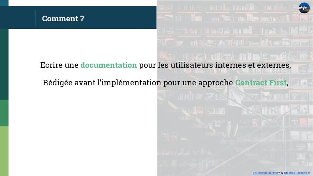 Comment ? Ecrire une documentation pour les uti...